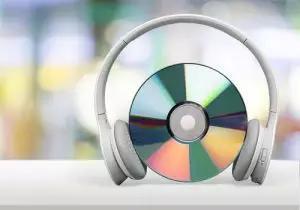 CD with headphones