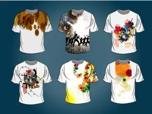 Array of music tee shirts